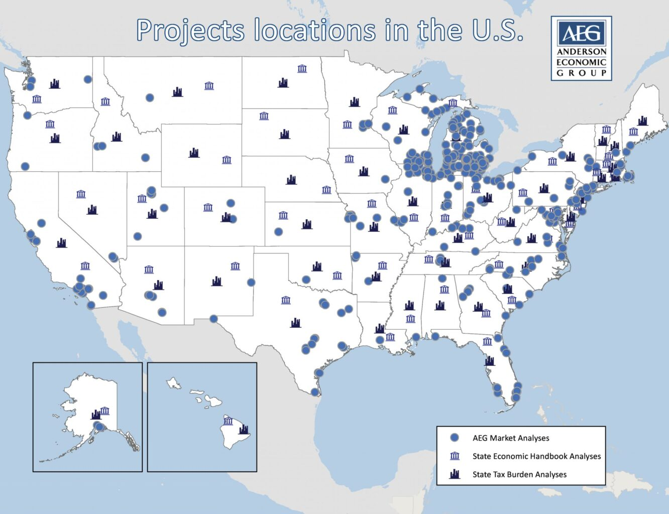 2016 AEG Projects Map